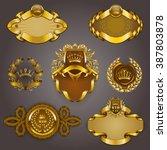 set of elegant templates for... | Shutterstock .eps vector #387803878