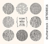hand drawn textures and brushes.... | Shutterstock .eps vector #387808816