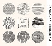 hand drawn textures and brushes.... | Shutterstock .eps vector #387808819