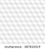 seamless geometric 3d pattern.... | Shutterstock .eps vector #387810319