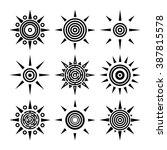 tribal ethnic boho collection...   Shutterstock .eps vector #387815578