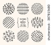 hand drawn textures and brushes.... | Shutterstock .eps vector #387815680