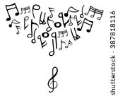 abstract icon music note | Shutterstock .eps vector #387818116