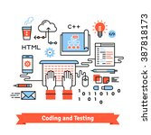 mobile application design ... | Shutterstock .eps vector #387818173