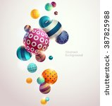 multicolored decorative balls.... | Shutterstock .eps vector #387825988