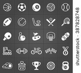 sport and games icons trendy... | Shutterstock .eps vector #387828748
