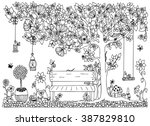 vector illustration zentangl... | Shutterstock .eps vector #387829810