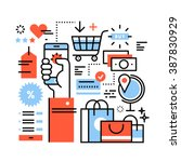 ecommerce business concept.... | Shutterstock .eps vector #387830929