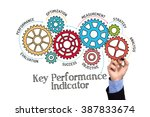 gears and kpi key performance... | Shutterstock . vector #387833674