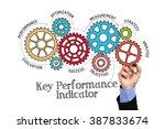 gears and kpi key performance... | Shutterstock . vector #387833674