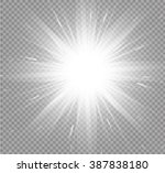 glow light effect. star burst... | Shutterstock .eps vector #387838180