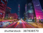 taipei cityscape at twilight in ... | Shutterstock . vector #387838570
