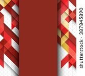 brochure template with abstract ... | Shutterstock . vector #387845890
