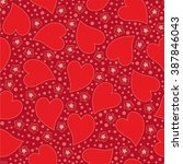 abstract valentine seamless... | Shutterstock .eps vector #387846043