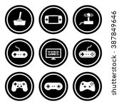 video game icon set | Shutterstock .eps vector #387849646