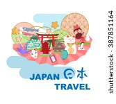 Постер, плакат: Japan travel element