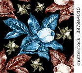 beautiful blooming tulip...   Shutterstock . vector #387864010