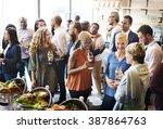diversity people party... | Shutterstock . vector #387864763