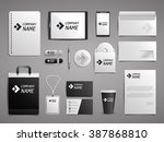 business mock up set. black and ... | Shutterstock .eps vector #387868810