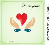 heart  and  hands   sign | Shutterstock .eps vector #387869083