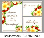 romantic invitation. wedding ... | Shutterstock . vector #387872200