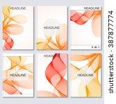 modern vector templates for... | Shutterstock .eps vector #387877774