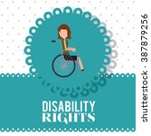 disability rights design ... | Shutterstock .eps vector #387879256