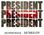 marijuana election  president  | Shutterstock . vector #387883159