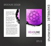 brochure template. polygonal... | Shutterstock .eps vector #387886543