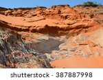 natural sand fall of red orange ... | Shutterstock . vector #387887998