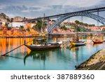 porto  portugal old town... | Shutterstock . vector #387889360