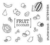 fruit doodles set | Shutterstock .eps vector #387894484
