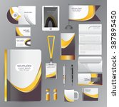white identity template with... | Shutterstock .eps vector #387895450