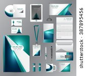 white identity template with... | Shutterstock .eps vector #387895456