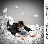 swim in the bureaucracy | Shutterstock . vector #387900820