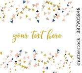 vector confetti hearts.... | Shutterstock .eps vector #387905848