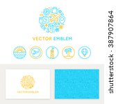 vector logo template  business... | Shutterstock .eps vector #387907864