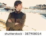 outdoor portrait of a young...   Shutterstock . vector #387908014
