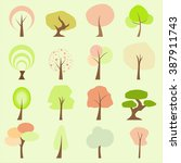 tree flat icons | Shutterstock .eps vector #387911743