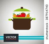 vegetarian food design  | Shutterstock .eps vector #387914740