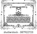 ornamental decoration foliage... | Shutterstock .eps vector #387922723