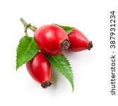 Rose Hip Isolated On A White...