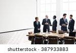 business team meeting working... | Shutterstock . vector #387933883