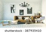 3d rendering living room in...   Shutterstock . vector #387935410