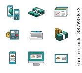 smart banking  money   mobile... | Shutterstock .eps vector #387937873