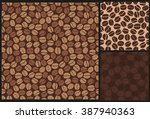 coffee beans seamless pattern | Shutterstock .eps vector #387940363