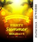 party summer holidays | Shutterstock . vector #387940888