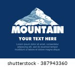 vector mountains logo  emblem.... | Shutterstock .eps vector #387943360