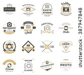 Set Of Photography Logo Design...