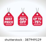 special offer sale tag discount ... | Shutterstock .eps vector #387949129